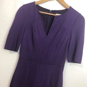 Trina Turk purple lined fitted dress Size 0